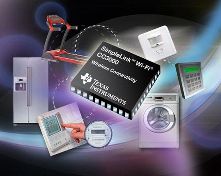 TI включает в семейство SimpleLink Wi-Fi «самодостаточный беспроводной процессор» CC3000