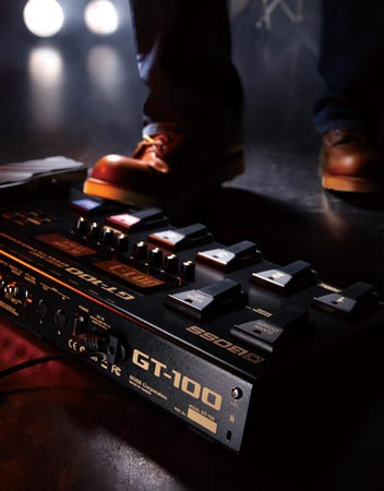 Продажи гитарного процессора эффектов BOSS GT-100 начнутся в феврале