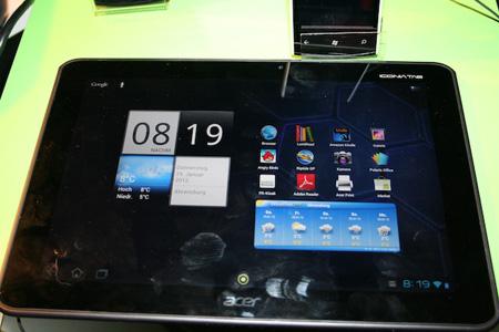 Экран Acer Iconia Tab A700 имеет диагональ 10,1 дюйма и разрешение 1920 х 1200 точек