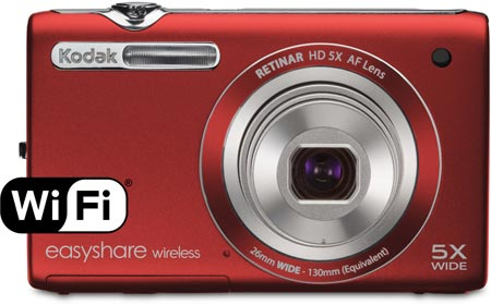 Камера Kodak EASYSHARE Wireless Camera M750 оснащена интерфейсом Wi-Fi