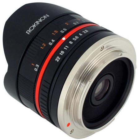Первые изображения объектива Rokinon 8mm f/2.8 для камер Sony NEX