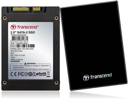 Transcend использует в SSD500 память типа SLC NAND