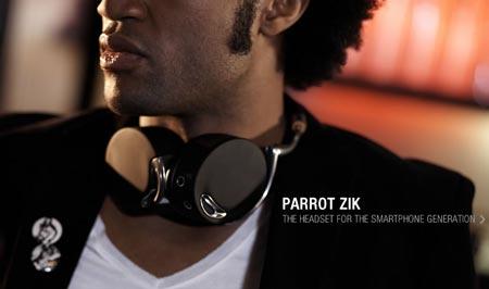 CES 2012: беспроводная гарнитура Parrot Zik имеет сенсорное управление