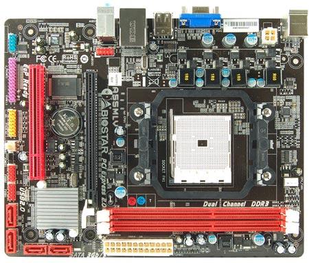 Системная плата BIOSTAR A55MLV рассчитана на процессоры AMD в исполнении FM1