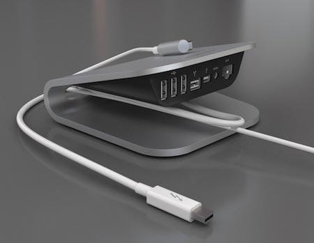 Стыковочная станция Belkin Thunderbolt Express Dock показана на выставке CES 2012