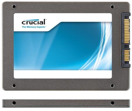 Толщина SSD Crucial m4 уменьшена до 7 мм