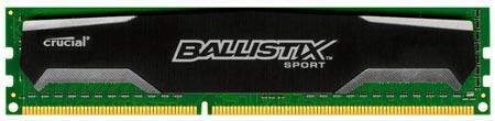 В сериях Crucial Ballistix Sport, Tactical и Elite появились модули объемом 8 ГБ