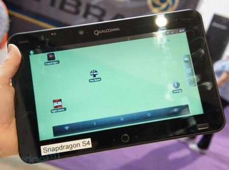 CES 2012: планшет для разработчиков на платформе Qualcomm Snapdragon S4 MSM8960