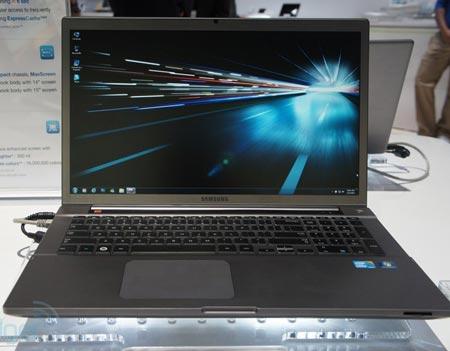 CES 2012: 17-дюймовый ноутбук Samsung Series 7 Chronos