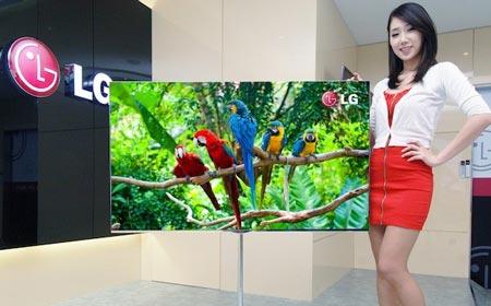 LG покажет 55-дюймовый телевизор с экраном типа OLED на выставке CES 2012