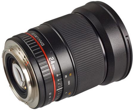 Объектив Samyang 24mm f/1.4 D AS UMC будет доступен в вариантах для камер Canon, Nikon, Pentax, Samsung NX, Sony и камер системы Four Fhirds