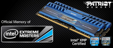 Компания Patriot Memory представила наборы модулей памяти Intel Extreme Masters Limited Edition