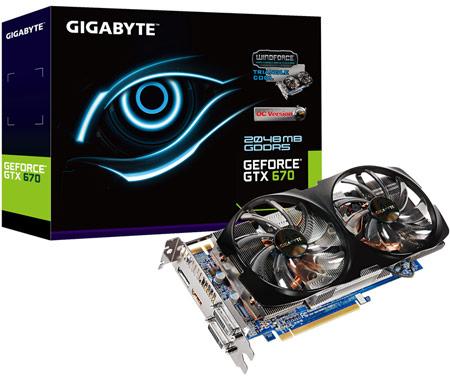 GeForce GTX 670 с системой охлаждения WindForce 2X с двумя вентиляторами