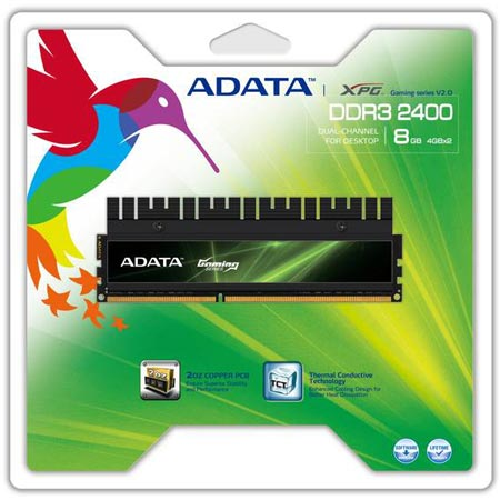 Компания ADATA представила модули памяти XPG Gaming v2.0 DDR3 2400G