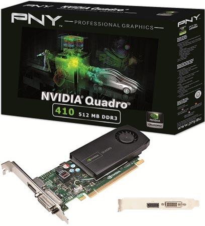 PNY ��������� � ������ ������ ����������� ���� PNY NVIDIA Quadro 410
