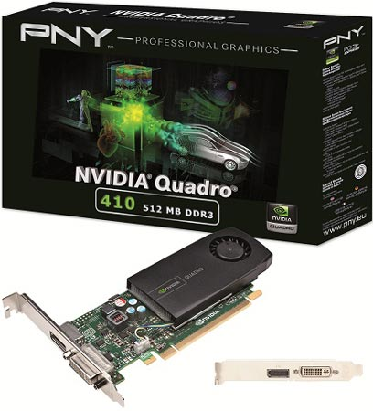 PNY объявляет о начале продаж графических карт PNY NVIDIA Quadro 410