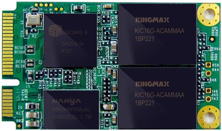 Твердотельные накопители KINGMAX MMP20 типоразмера mSATA оснащены интерфейсом SATA 3 Гбит/с