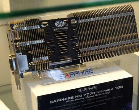 3D-карта Sapphire Radeon HD 7770 имеет пассивное охлаждение