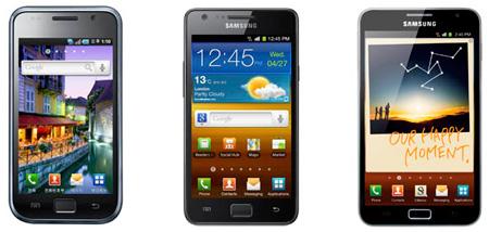 Galaxy S, Galaxy S II и Galaxy Note — новые герои статистики продаж мобильного подразделения Samsung