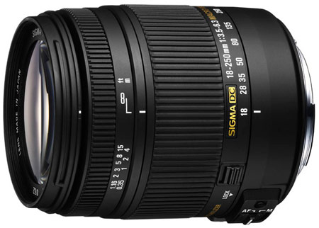 Анонсирован объектив Sigma 18-250mm F3.5-6.3 DC Macro OS HSM для зеркальных камер