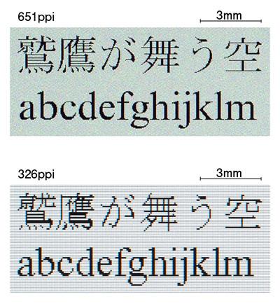 651 пиксель на дюйм — типографское разрешение дисплея, созданного специалистами Japan Display