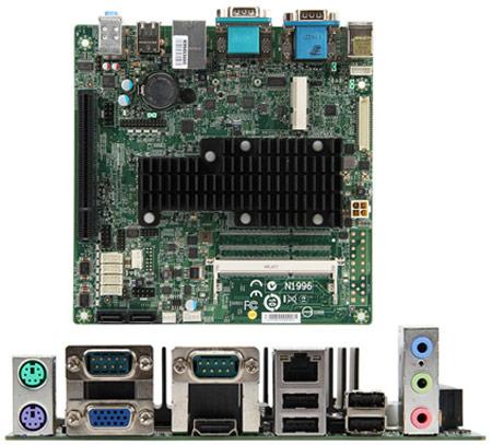Для системной платы MSI MS-9893 выбран типоразмер mini-ITX