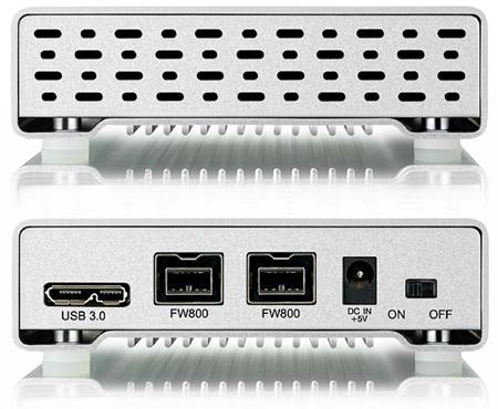 Корпус для внешнего накопителя Akitio Neutrino U3+ оснащен интерфейсами FireWire 800 и USB 3.0