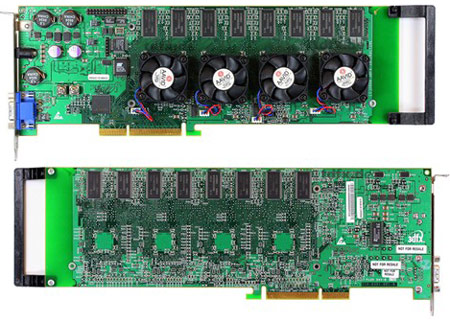 История уже знает пример 3D-карты на четырех GPU