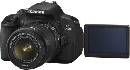 Canon EOS 650D — первая зеркальная камера Canon с сенсорным экраном