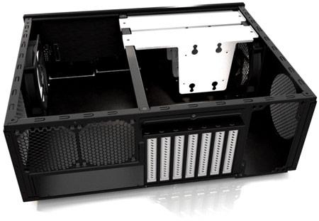Габариты Fractal Design Node 605 составляют 445 х 164 х 349 мм