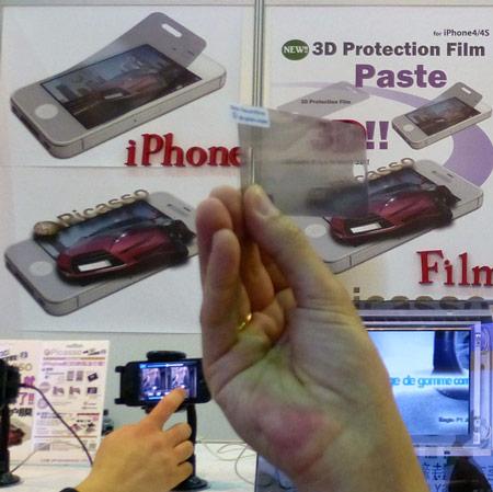 Пленка Picasso наделяет экран iPhone4/4S стереоскопическими способностями