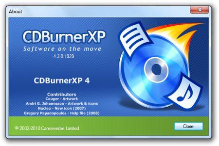 �������� ���� ��������� CDBurnerXP