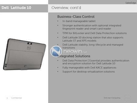Появились подробности о планшете Dell Latitude 10 с Windows 8, включая срок выхода на рынок