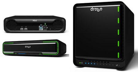 Для ускорения работы в Drobo 5D и Drobo Mini предусмотрена установка кэширующего SSD