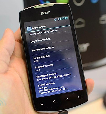 Acer Liquid Glow E330