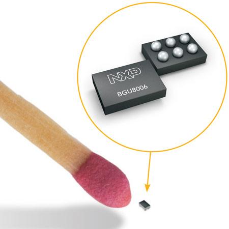 Усилитель BGU8006 выпускается в корпусе размерами 0,65 x 0,44 x 0,2 мм