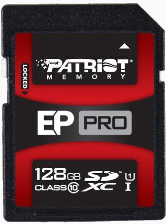 Продажи карт памяти SDXC и SDHC Patriot Memory EP Pro UHS-1 стартуют 16 июля