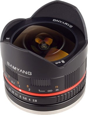 Представлен объектив Samyang 8mm f/2.8 ED AS IF UMC Fisheye для камер Sony NEX и Samsung NX