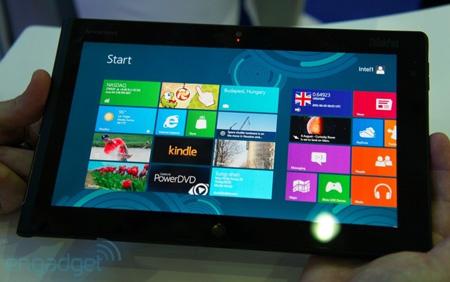 Планшет Lenovo под управлением Windows 8