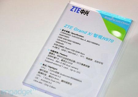 ZTE Grand X N970: спецификации