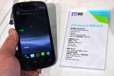 ZTE Grand X U970: спецификации