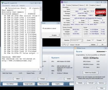 Результаты теста APU AMD A8-3850