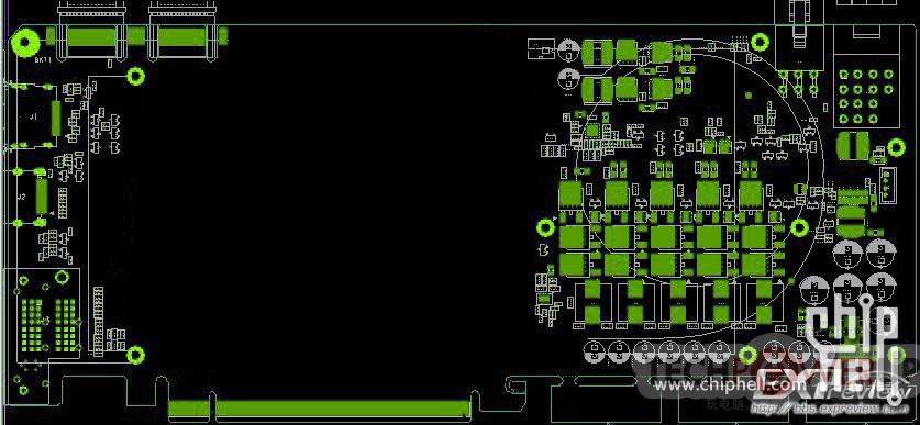 "Печатная плата NVIDIA GK104 позирует на схемах и  ""живых "" фото."