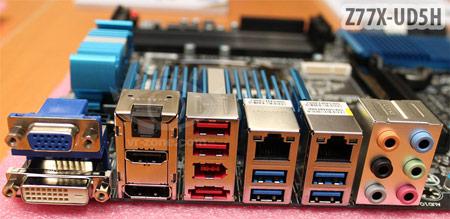 Основой плат Gigabyte Z77X-UD3H и Z77X-UD5H послужил набор системной логики Intel Z77