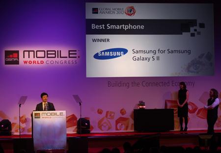Смартфон Samsung Galaxy SII получил звание лучшего смартфона года от GSM Association