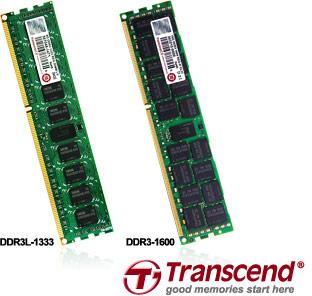 Transcend анонсирует серверные модули памяти DDR3-1600 объемом 16 ГБ