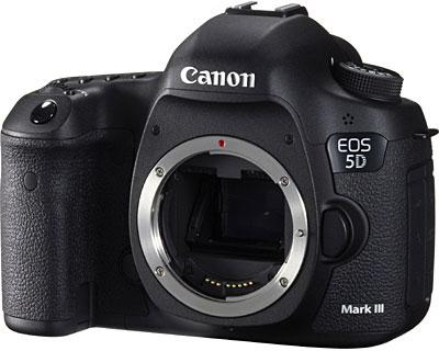 Изображения и технические данные камеры Canon 5D Mark III появились накануне ее премьеры
