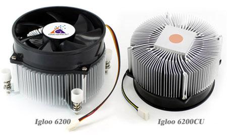 Охладитель GlacialTech Igloo 6200 совместим с процессорами Intel LGA 2011 с TDP до 130 Вт