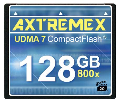 Axtremex Technology ��������� ����� CompactFlash � ����������� 800x � 800x Plus, ��������������� ������������ VPG Profile 1