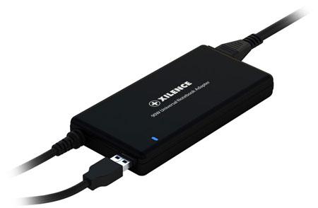 Толщина БП для ноутбуков Xilence мощностью 90 Вт равна 17,5 мм